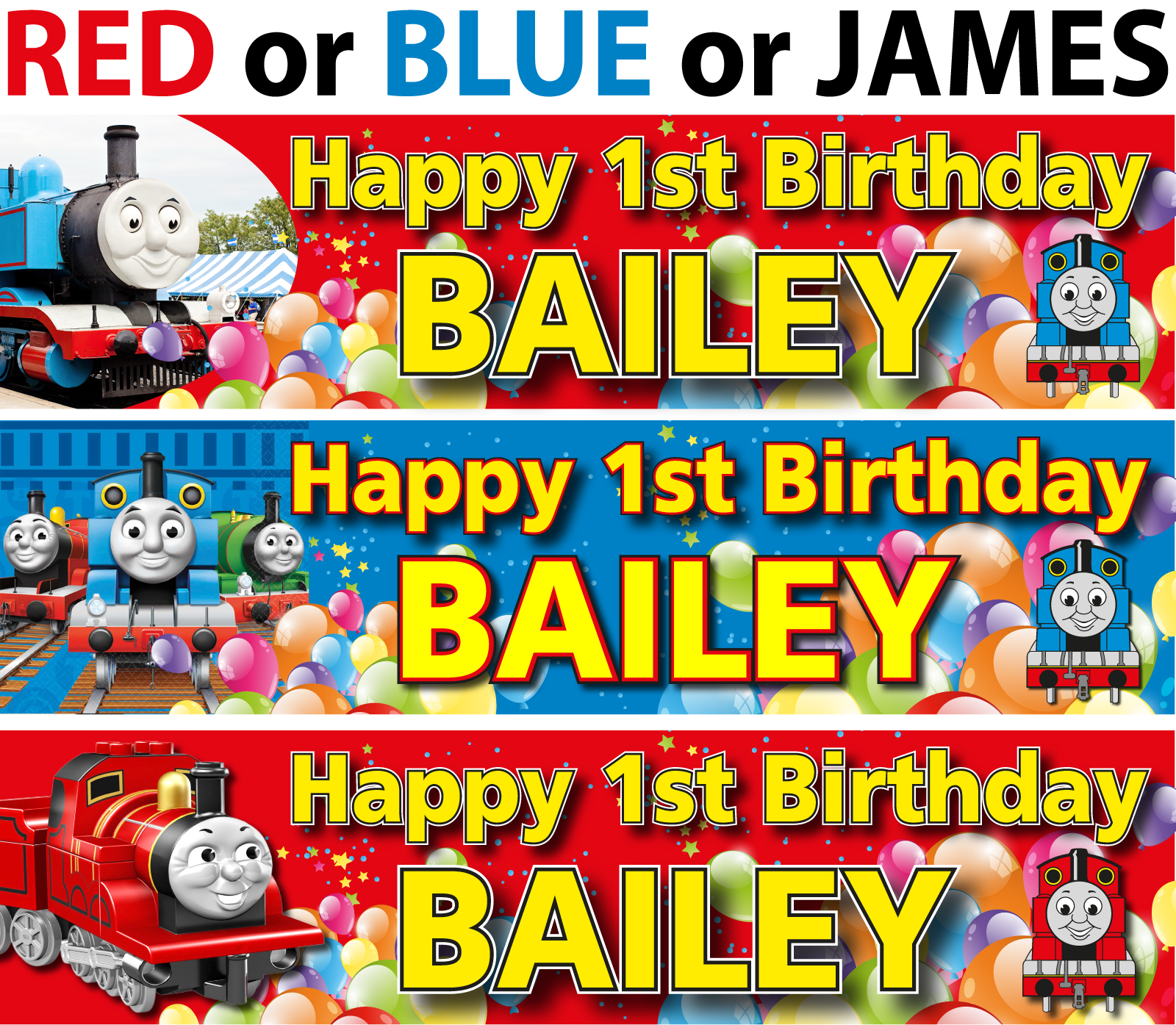 Trolls Happy Birthday Banner We Can Easily Add An: Personalised Thomas The Tank Engine Birthday Banner