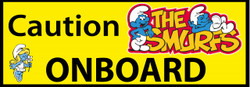Caution Smurfs Onboard Cute Funny Bumper Car Stickers