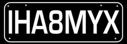 IH8MYX - I hate My Ex  - Funny Bumper Car Stickers