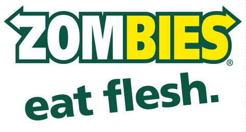 Zombies eat flesh sticker funny bumper car stickers