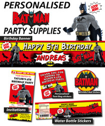 Personalised Batman Birthday Party Banner Decorations