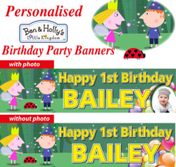 Personalised Ben and Holly Birthday Party Banner Decoration
