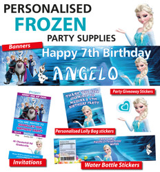 Personalised Frozen Birthday Party Banners and Decorations
