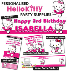 Personalised Hello Kitty Birthday Party Decorations Supplies