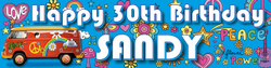 Personalised Hippy Birthday Banner