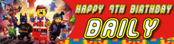 Personalised Lego Birthday Party Banner Decoration