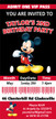 Personalised Mickey Mouse Birthday Party Invitations