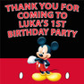 Personalised Mickey Mouse Party Lolly Loot bag labels