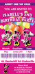 Personalised Minnie Mouse Birthday Party Invitations