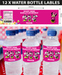 Personalised Minnie Mouse Birthday Party Water Bottle Labels