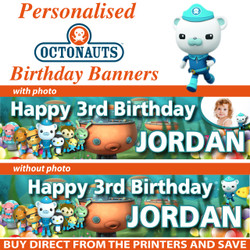 Personalised Octonauts Birthday Party Banner - Decoration