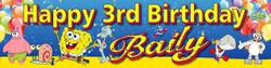 Personalised Sponge Bob Birthday Banner