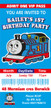 Personalised Thomas the Tank Engine Birthday Party Invitations