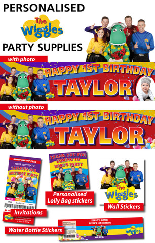 Personalised Wiggles Birthday Party Banner Decorations
