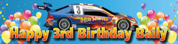 Personalised Hot Wheels Birthday Banner