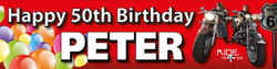 Personalised Motor Bike Birthday Banner
