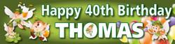 Personalised Irish Birthday Banner