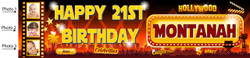 Personalised Hollywood with Photos Birthday Banner