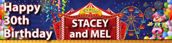 Personalised Carnival Birthday Banner