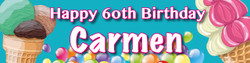 Personalised Ice Cream Birthday Party Banner - Decoration