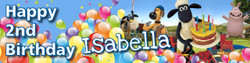 Personalised Shaun the Sheep Birthday Banner