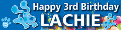 Personalised Blues Clue Birthday Banner