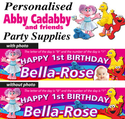 Personalised Abby Cadabby and Friends Party Supplies