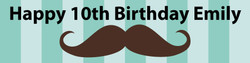 Personalised Moustache Birthday Banner