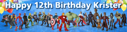 Personalised Marvel Superheroes Birthday Banner