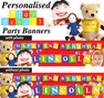 Personalised Play School Birthday Party Banner Decorations