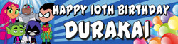 Personalised Teen Titans Birthday Banner - Perfect Party Idea
