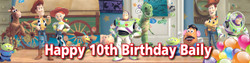 Personalised Toy Story Birthday Banner - Perfect Party Idea
