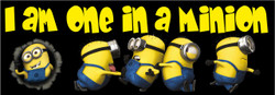 One in a Minion Minions Bumper Car Bar Fridge Sticker