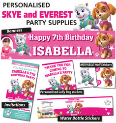 Personalised Skye and Everest Birthday Party Banner Decorations
