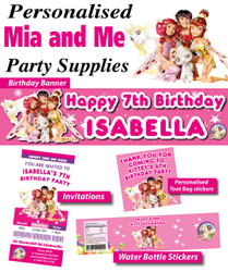 Personalised Mia and Me Birthday Party Banner Decorations