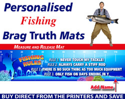 Personalised Fishing Rules Brag Truth Measure and Release Mat