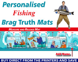 Personalised Fishing Mermaid Brag Truth Measure and Release Mat