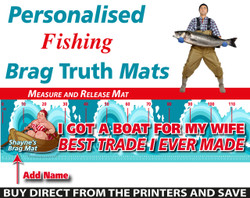 Personalised Fishing Wife Swap Brag Truth Measure and Release Mat