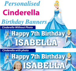 Personalised Cinderella Birthday Party Banner Decoration