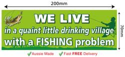 Funny Fishing Village Bumper Car Fridge Wall stickers