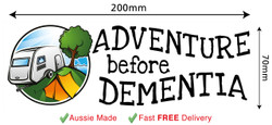 Adventure Before Dementia Funny Bumper Car Fridge Stickers