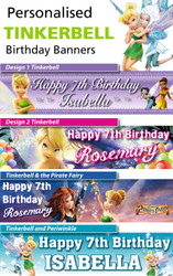 Personalised Tinkerbell Birthday Party Banner Decoration
