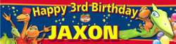 Personalised Dinosaur Train Birthday Party Banner Decoration