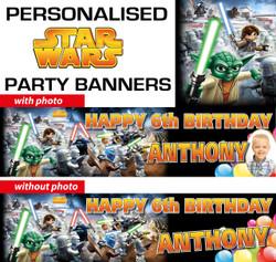 Personalised Star Wars Lego Birthday Banner Decorations