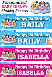 Personalised Baby Disney Birthday Party Minnie Mickey Mouse