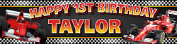 Personalised Formula One Birthday Party Banner Decoration