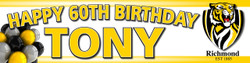 Personalised Richmond Football Birthday Party Banner Decoration