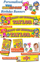 Personalised Team Umizoomi Birthday Party Supplies Wall Stickers