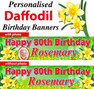 Personalised Daffodil Birthday Party Banner Decoration