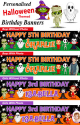 Personalised Halloween Themed Party Banner Decoration
